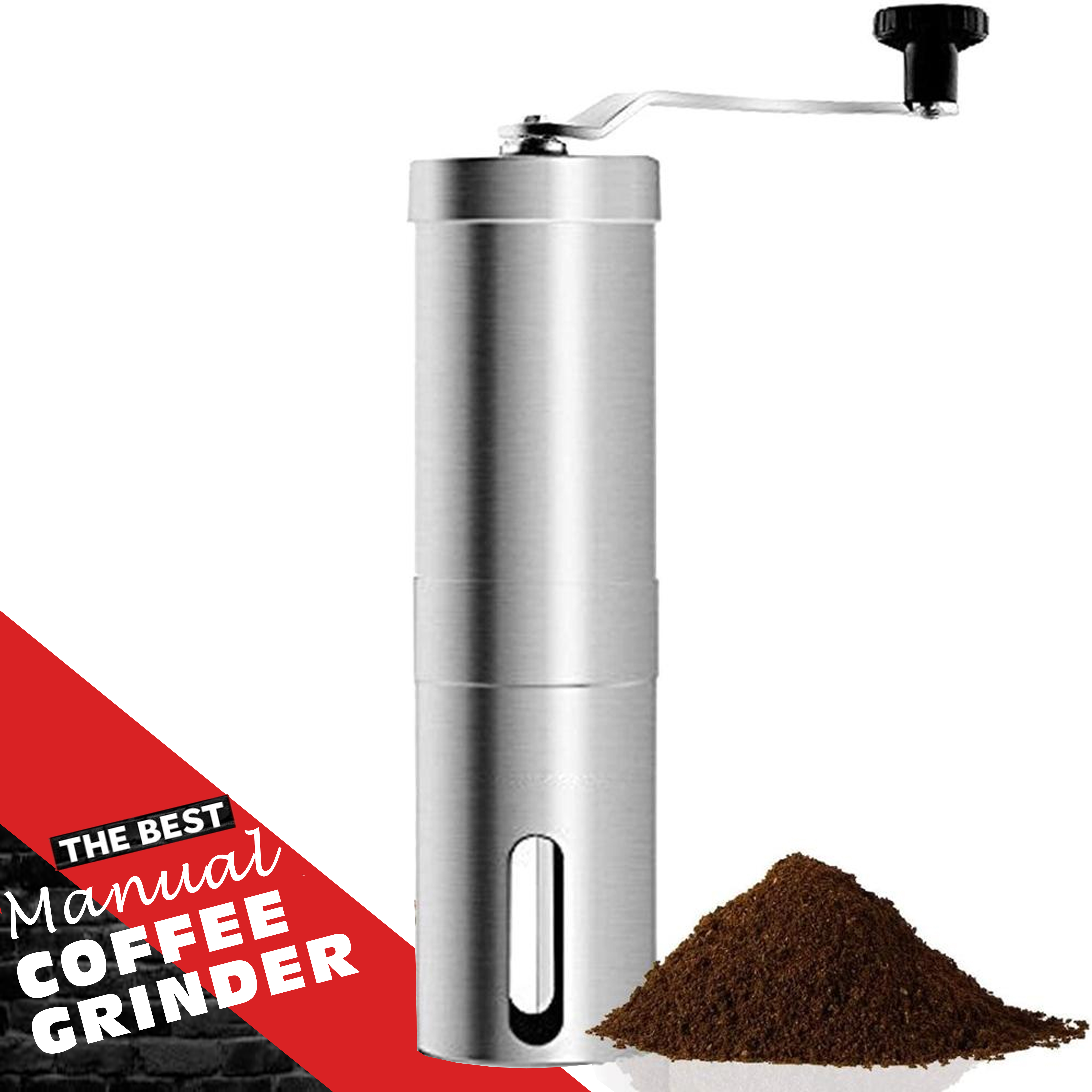 Premium Quality Manual Coffee Grinder. Stainless Material